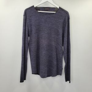 John Varvatos Waffle Knit Thermal Elbow Patches
